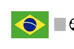 Brazil vs Mexico Score Sports Background