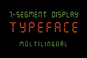 7 Segment Display Font
