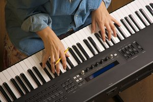 Abstract Digital Piano Keyboard