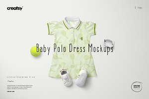 Baby Polo Dress Mockup Set