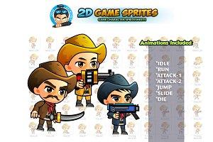 CowBoys 2D Game sprites