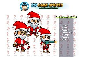 Santa 2D Game Sprites