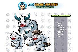 Yeti 2D Game Sprites