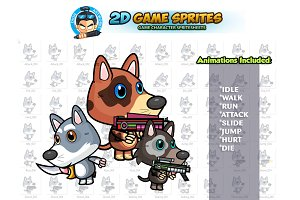 Dogies 2D Game Sprite Set