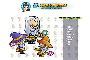 Wizards 2D Game Sprites Set