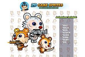 Tiger 2D Game sprites Set