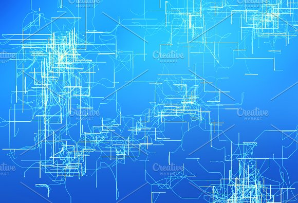 circuit board high tech technology on blue background abstract