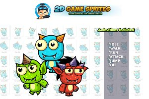 Monster 2D Game Sprites