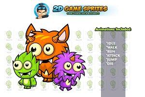 Monster 2D Game Sprites Set