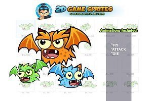 Flying Monsters Game Sprites