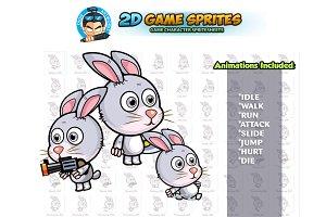 Rabbit 2D Game Sprites