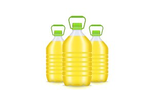 Vegetable Oil Plastic Bottle Group