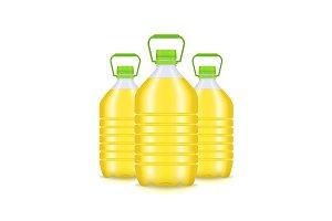 Vegetable Oil Plastic Bottle Group