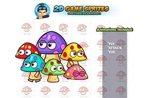 Mushrooms 2D Game Sprites