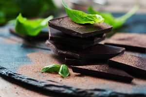 Chocolate and basil