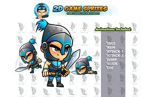 Blue Knight Game sprites