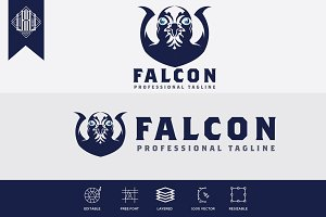 Falcon Bird Head Logo