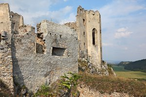 Dilapidated medieval fortress