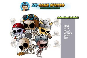 Skull Warriors 2D game Sprites
