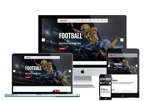 AT Rugby Onepage – Football Joomla