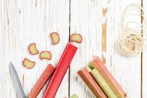 Fresh organic rhubarb