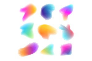Abstract Colorful Shapes Set