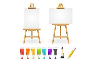 Board Easel and Painting Accessories