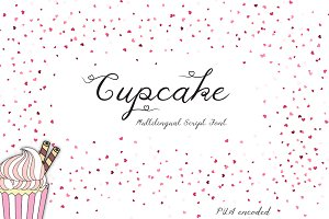 Cupcake Multilingual Script Font
