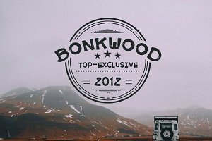 BonkWood Font
