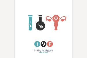 In vitro fertilisation icon