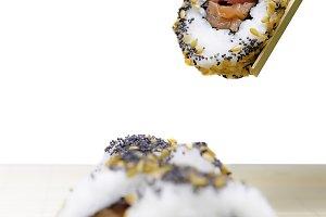 holding sushi