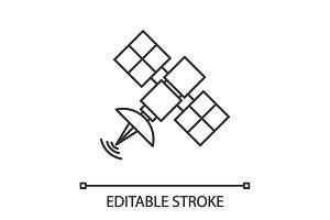 Satellite signal linear icon