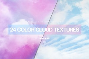 24 Color Cloud Textures