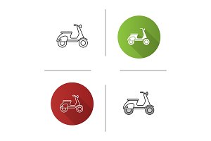 Scooter side view icon