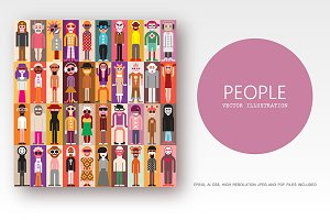 Large bundle of people portraits