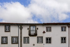 Traditional residential facade in Guarda, Portugal