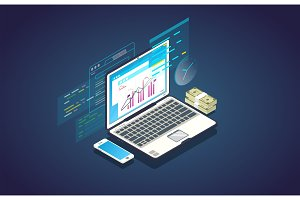 Online finance analytics banner