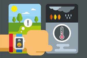 Weather app on smart watch
