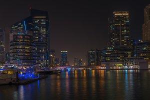 Night view of Dubai Marina, United
