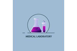 Medical laboratory emblem