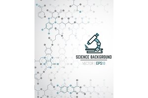 Scientific chemical background