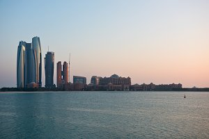 Abu Dhabi buildings skyline from the