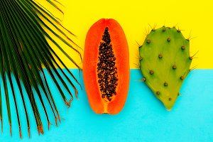 Papaya Minimal Beach colorful mood
