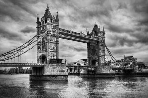 Tower Bridge in London, the UK