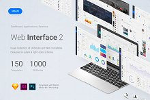 Web Interface 2, Sketch, XD, PSD