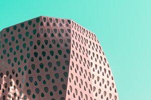 Modern building detail in pop art