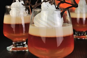 Halloween dessert in a glass