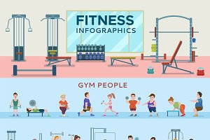 Sport Infographic Horizontal Banners