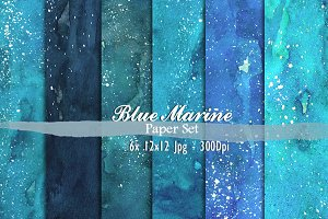 Blue Marine watercolor paper