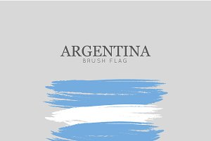 Argentina Flag Brush Stroke - Vector
